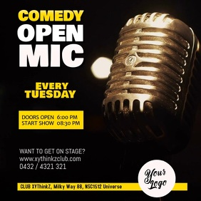 OPEN MIC Stand up Comedy Video Facebook Instagram Post