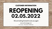Open Re-Opening reopening banner header Sign