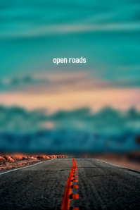Open Roads Plakat template