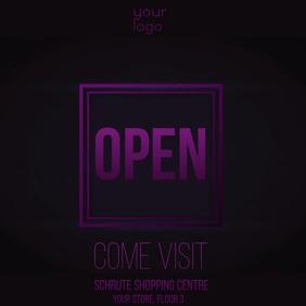 Open store invitation video ad instagram