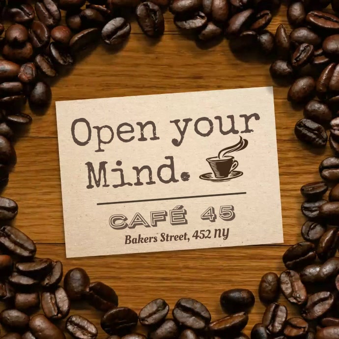 Open Your Mind Coffee Cafe Video Template