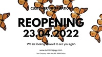 Opening reopening banner header Sign