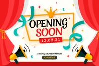 Opening soon, relaunch, coming soon Póster template