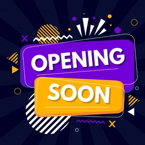 opening soon ,Re-launch party,retail Persegi (1:1) template