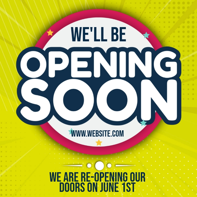 OPENING SOON AD Template Vierkant (1:1)