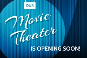 MOVIE THEATER Banner 4' × 6' template