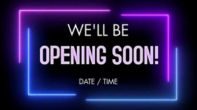 OPENING SOON Ecrã digital (16:9) template