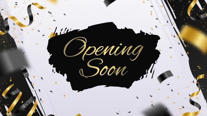 Opening Soon Digitale display (16:9) template