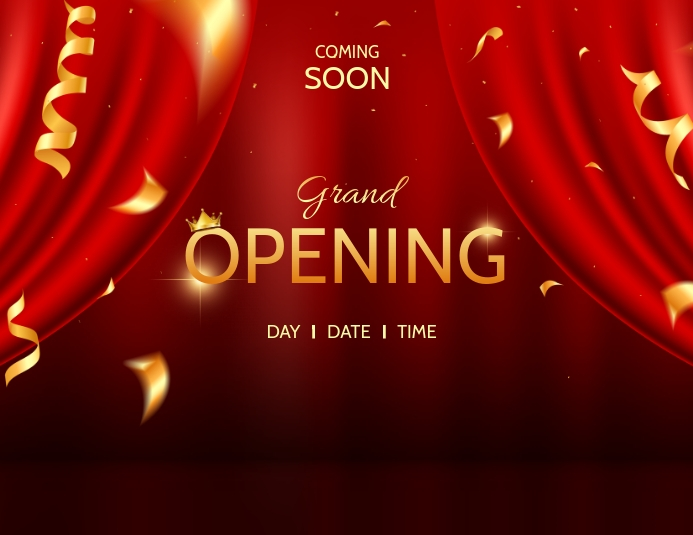 OPENING SOON Flyer (Letter pang-US) template