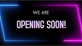 opening soon Digital Display (16:9) template
