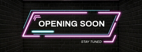 Opening Soon Facebook Cover Design Facebook-omslagfoto template