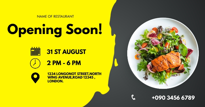 OPENING SOON FLYER Facebook Shared Image template