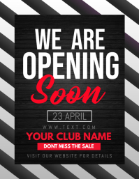 Opening soon flyers,Grand opening