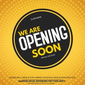 opening soon flyers,Grand opening flyers Square (1:1) template