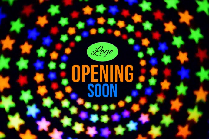 Opening Soon Template Plakkaat