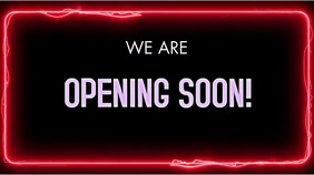 OPENING SOON VERSION 1 Digital Display (16:9) template