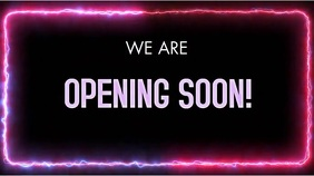 OPENING SOON VERSION 3 Digital Display (16:9) template