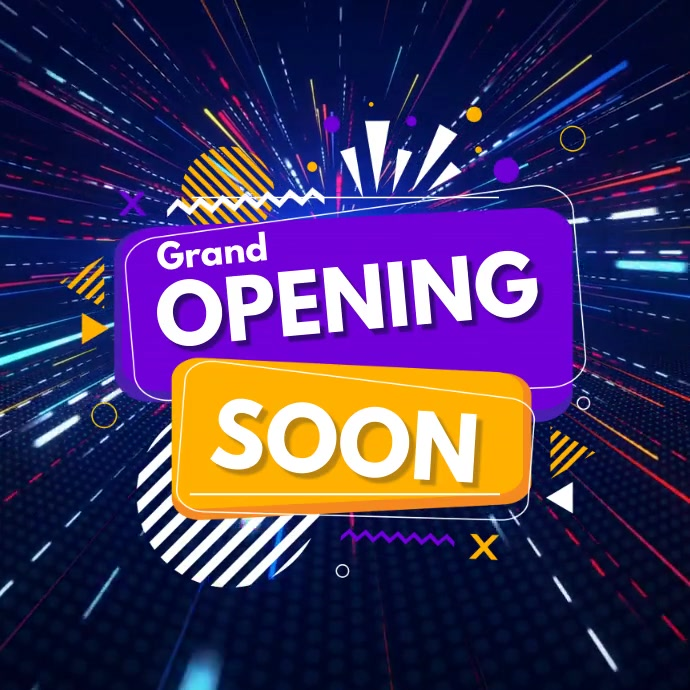 opening soon video,retail video Quadrado (1:1) template