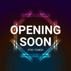 Opening soon video ad Template Square (1:1)