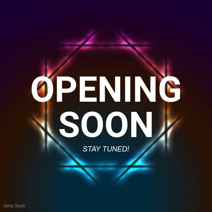 Opening soon video ad Template Vierkant (1:1)