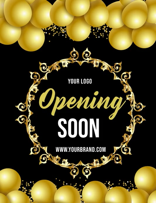 opening soon video template, coming soon Pamflet (Letter AS)