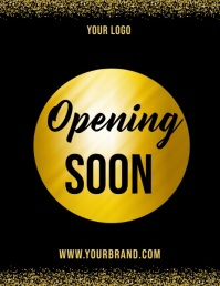 Opening soon video template, launching soon Flyer (US Letter)