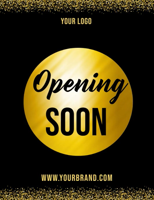 Opening soon video template, launching soon Pamflet (Letter AS)