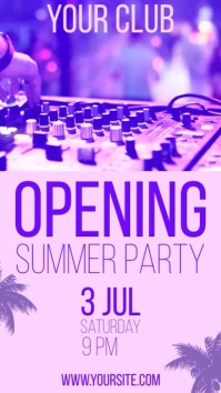 Opening Summer Party Instagram Story template