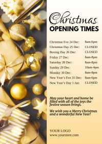 Opening Times Christmas Days holidays Retail