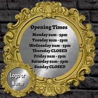 OPENING TIMES Instagram-Beitrag template