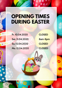 Opening Times During Easter Retail Store Shop