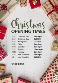 Opening Times Hours Business Template Retail