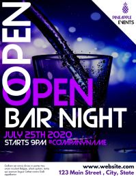 oper bar night flyer advertisement design tem template