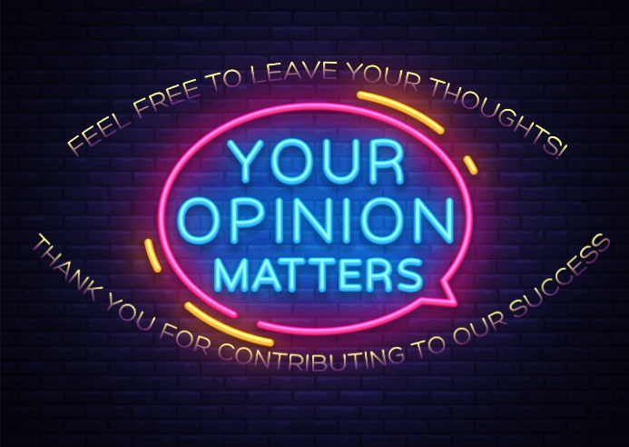 Opinion Postcard template