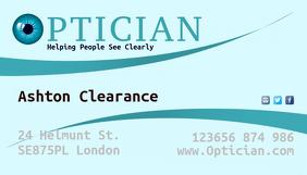 optician business card Визитная карточка template