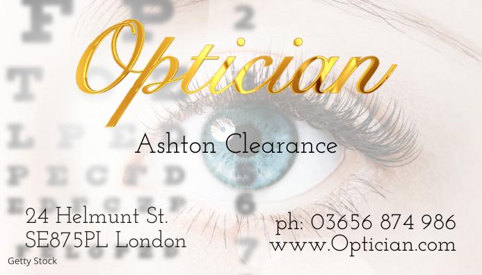 Modele Carte De Visite Opticien