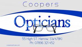 optician business card นามบัตร template