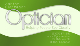 optician business card