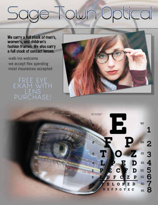 optician flyer ad template