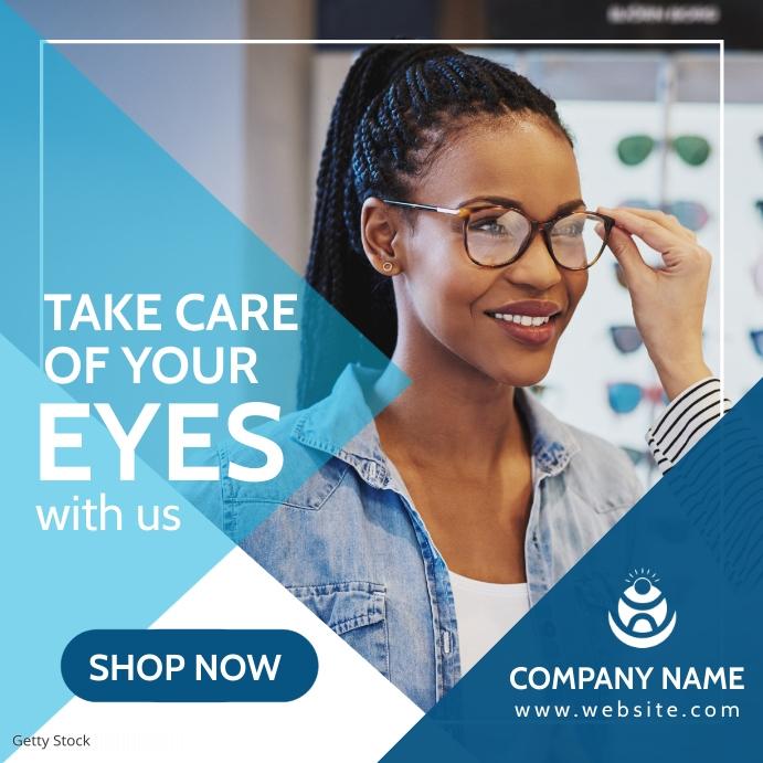 optician store advertisement Message Instagram template