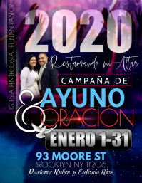 oracion y ayuno Flyer (US Letter) template