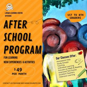Orange After School Program Ad