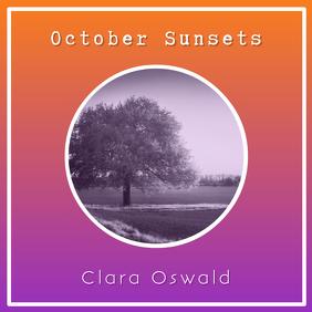 Orange Album Cover Template