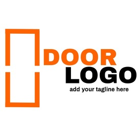 Orange and black door logo icon