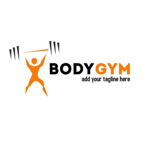 orange and black gym logo