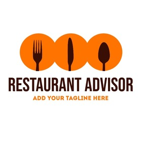 orange and brown restaurant app icon