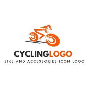 orange and grey colors logo template design