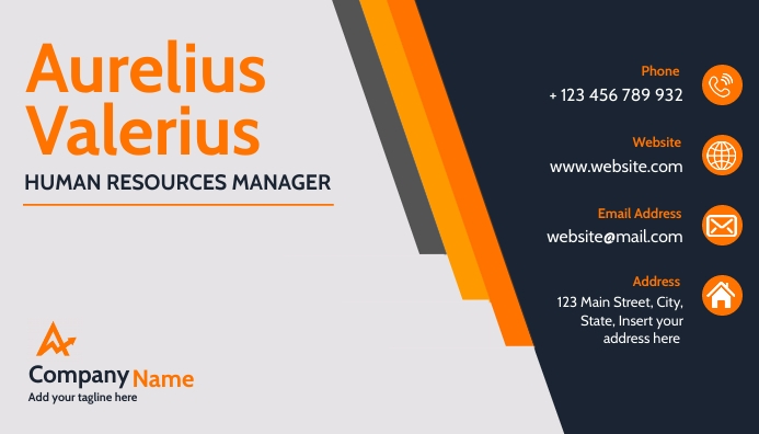 orange and grey modern business corporate bus template