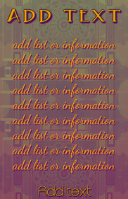 orange and purple Elegant warm colored list o