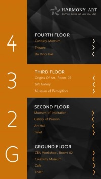 Orange Art Exhibition Directory Digital Signage